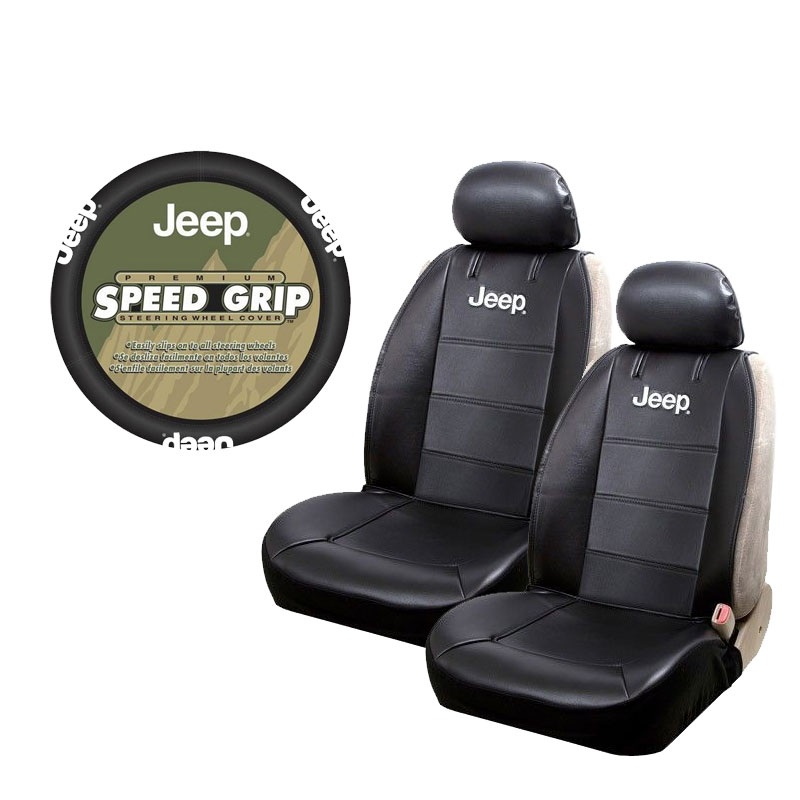 Brand New Jeep Logo Sideless Front Seat Covers Amp Steering