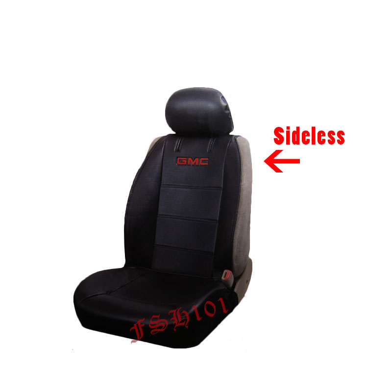 New 2 Front GMC Car Truck SUV Sideless Black Seat Covers