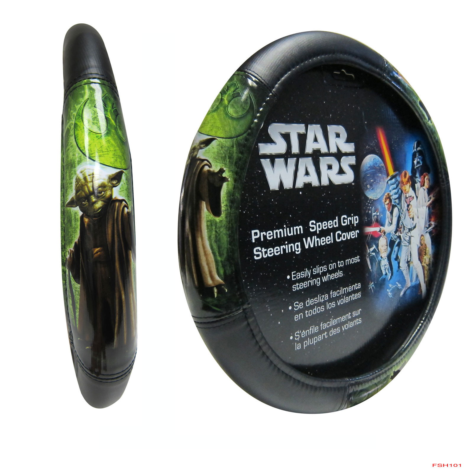 New Star Wars Yoda Synthetic Leather Car Truck Speed Grip